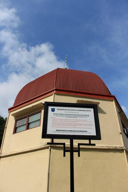 Salah satu dari lima kubah Masjid Agung Nurul Iman Sawahlunto